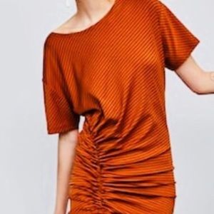Zara dress with ruching new with tags
